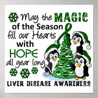Christmas Penguins Liver Disease Poster