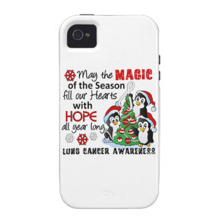Christmas Penguins Lung Cancer iPhone 4 Covers