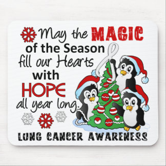 Christmas Penguins Lung Cancer Mouse Pad