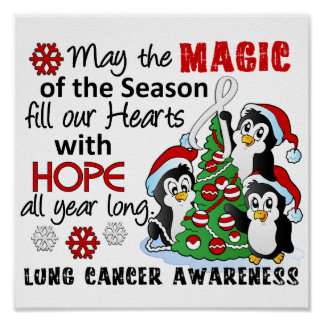 Christmas Penguins Lung Cancer Print