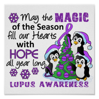 Christmas Penguins Lupus Posters