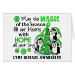 Christmas Penguins Lyme Disease Card