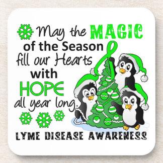 Christmas Penguins Lyme Disease Coaster