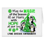 Christmas Penguins Lyme Disease Greeting Card