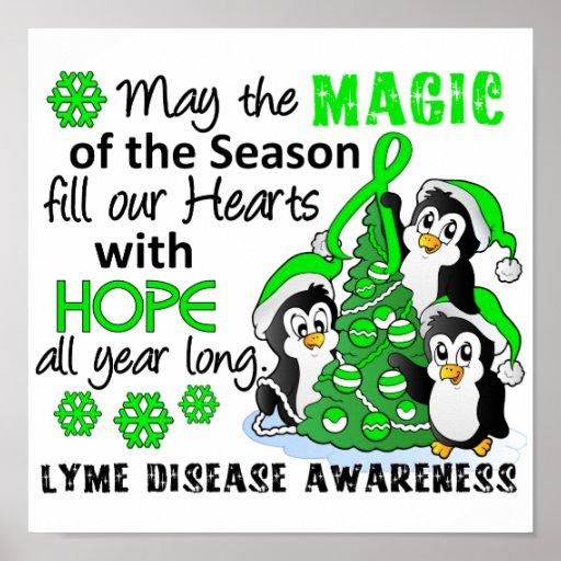 Christmas Penguins Lyme Disease Posters