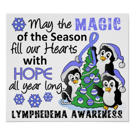 Christmas Penguins Lymphedema Posters