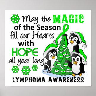 Christmas Penguins Lymphoma Poster