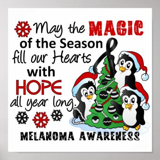 Christmas Penguins Melanoma Print