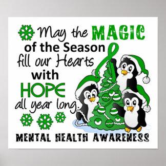 Christmas Penguins Mental Health Poster