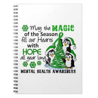 Christmas Penguins Mental Health Spiral Notebook