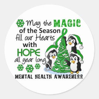 Christmas Penguins Mental Health Sticker