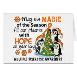 Christmas Penguins Multiple Sclerosis MS Greeting Card
