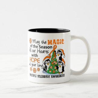 Christmas Penguins Multiple Sclerosis MS Two-Tone Mug