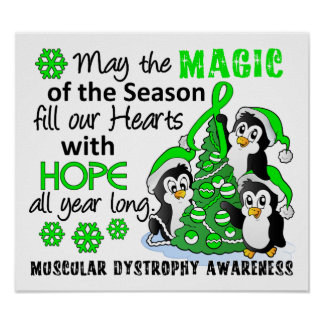Christmas Penguins Muscular Dystrophy Poster