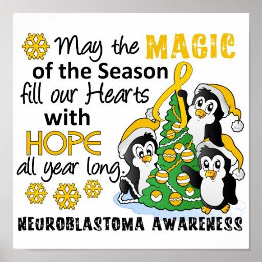 Christmas Penguins Neuroblastoma Print