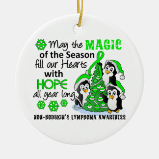Christmas Penguins Non-Hodgkin's Lymphoma Christmas Ornament