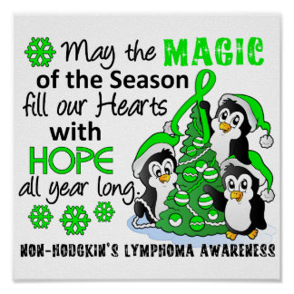 Christmas Penguins Non-Hodgkin's Lymphoma Poster