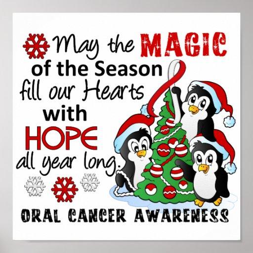 Christmas Penguins Oral Cancer Print