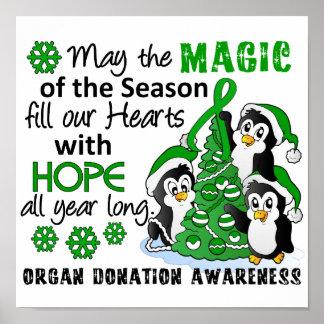 Christmas Penguins Organ Donation Print
