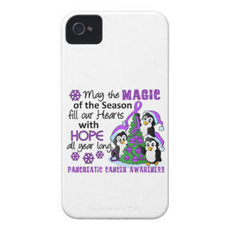 Christmas Penguins Pancreatic Cancer iPhone 4 Case-Mate Case