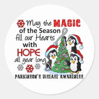 Christmas Penguins Parkinson s Disease Stickers