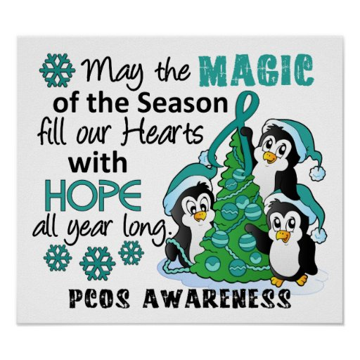 Christmas Penguins PCOS Poster