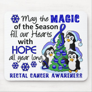 Christmas Penguins Rectal Cancer Mouse Pad