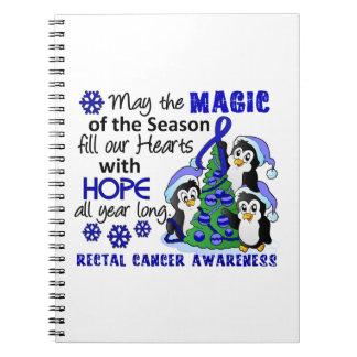 Christmas Penguins Rectal Cancer Spiral Note Book