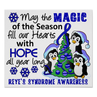 Christmas Penguins Reye's Syndrome Poster