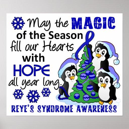 Christmas Penguins Reye's Syndrome Poster