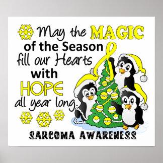 Christmas Penguins Sarcoma Posters