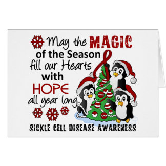 Christmas Penguins Sickle Cell Disease Cards