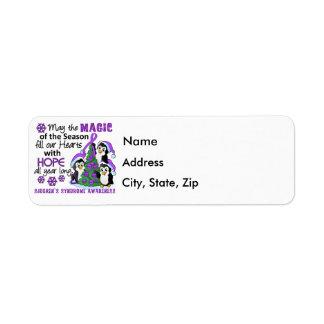Christmas Penguins Sjogren's Syndrome Return Address Label