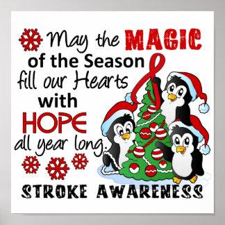 Christmas Penguins Stroke Print