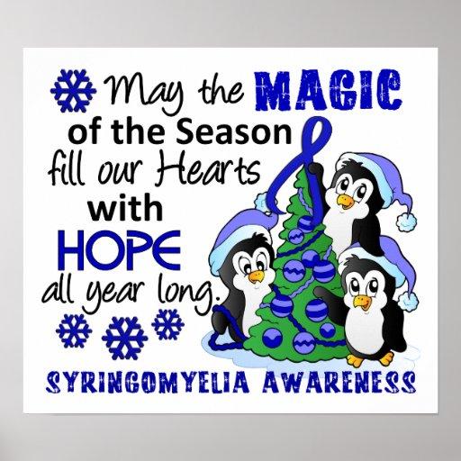 Christmas Penguins Syringomyelia Posters
