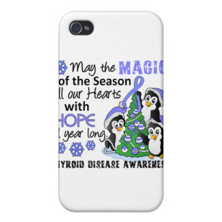 Christmas Penguins Thyroid Disease iPhone 4/4S Covers
