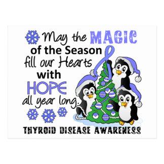 Christmas Penguins Thyroid Disease Postcard