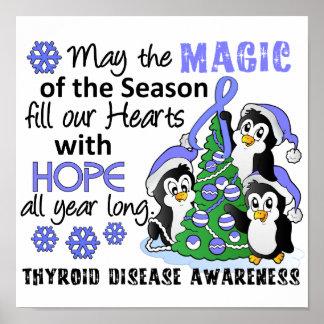 Christmas Penguins Thyroid Disease Posters