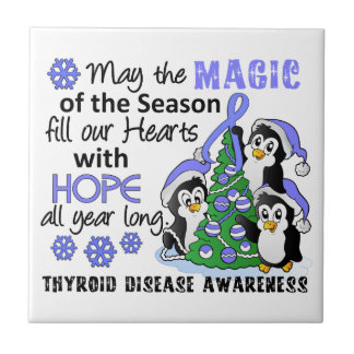 Christmas Penguins Thyroid Disease Tile