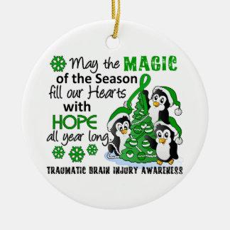 Christmas Penguins Traumatic Brain Injury TBI Christmas Ornament
