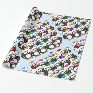 Christmas Penguins Wrapping Paper