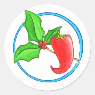 Christmas Pepper Classic Round Sticker