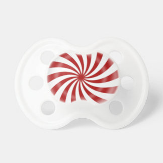 Christmas peppermint candy pacifier