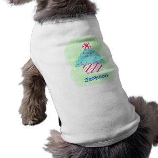 Christmas Peppermint Cupcake Dog Clothing Green