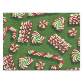Christmas peppermint pattern tissue paper