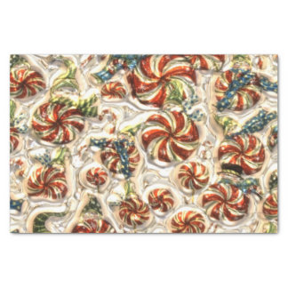 """Christmas peppermint pattern tissue paper 10"""" x 15"""" tissue paper"""
