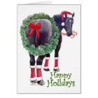 Christmas Percheron Draught   Horse Card