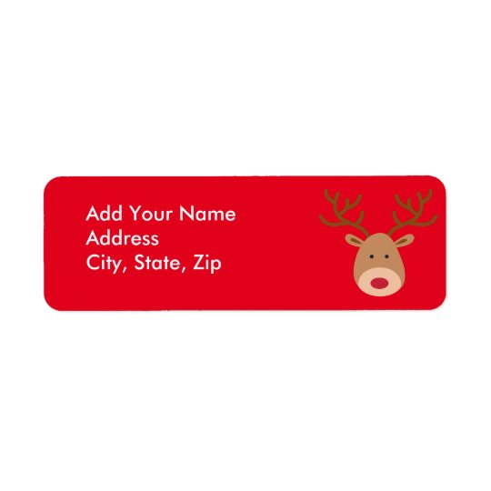 Christmas Personalise Return Address Labels