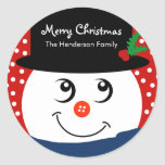 Christmas Personalised Sticker - Snowman