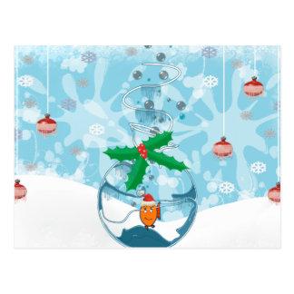 Christmas Pet Fish Splat Post Cards